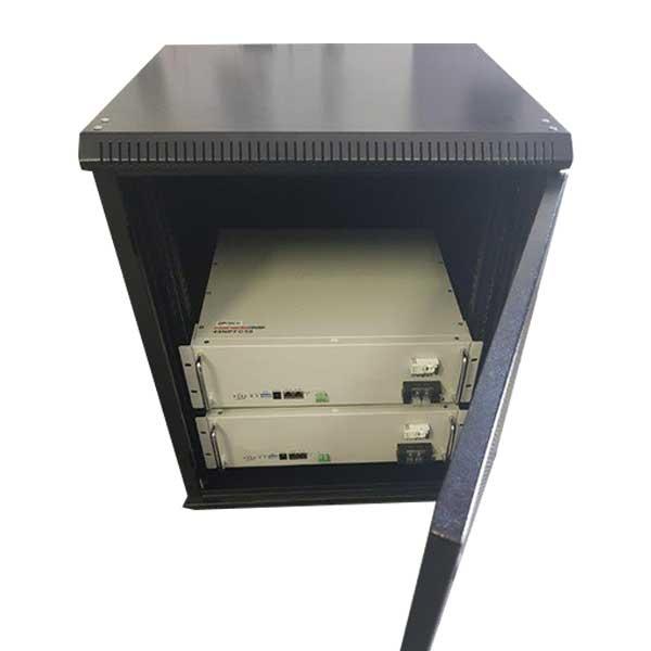 Battery Cabinet 21U Solar Two Batteries