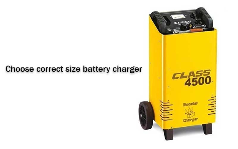 Choose Correct Size Battery Charger