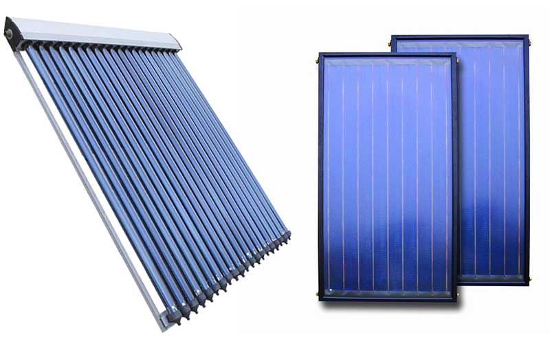 Evacuated Tube And Flat Plate Solar Collectors