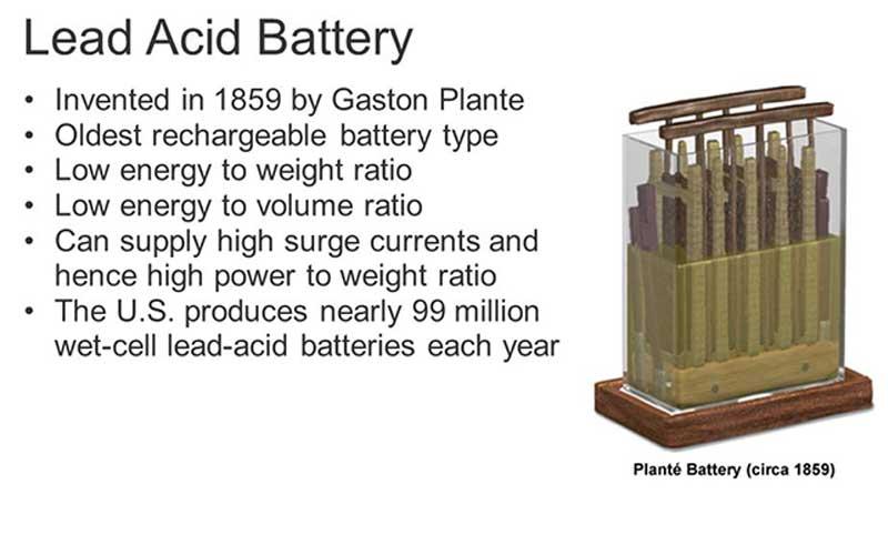 Gaston Planté Lead-Acid Battery