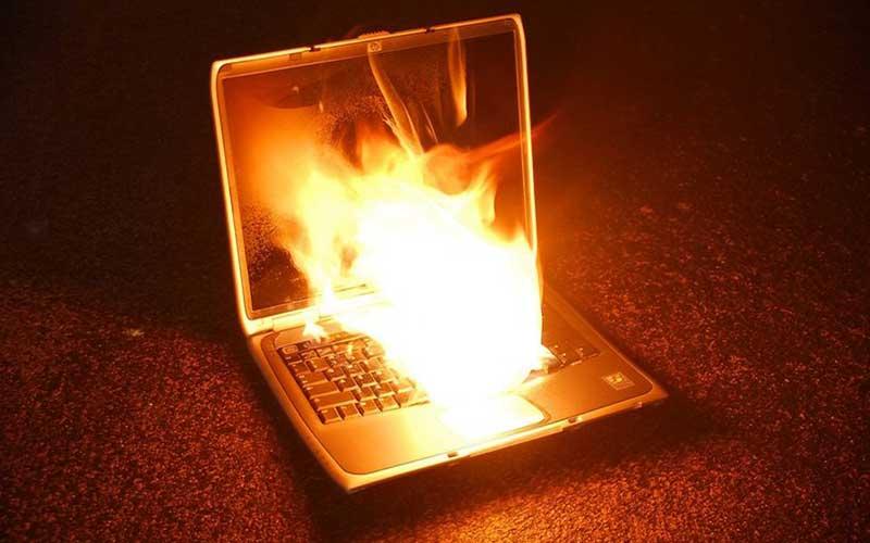 Laptop Lithium-ion Battery Fire Disadvantage