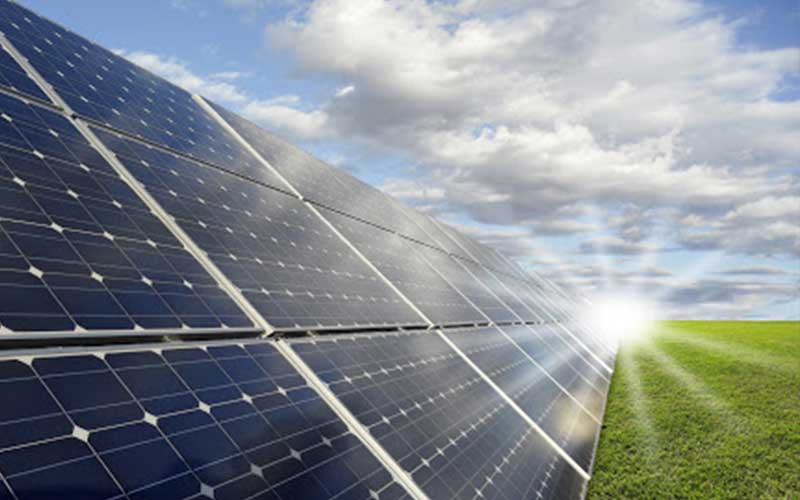 Photovoltaic PV Systems Generating Electricity Sunlight