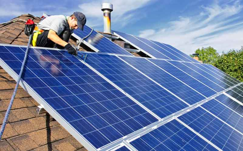 Solar Panel Installation Area On Roof