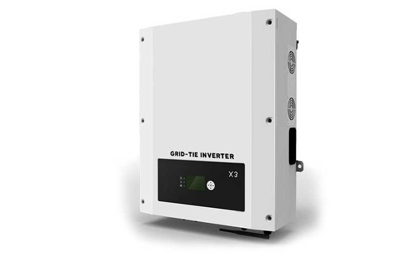 White Grid Tied Solar Inverter