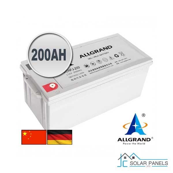 200Ah GEL-VRLA Allgrand Battery