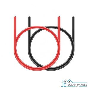 Pair of 1 Meter Battery Cables 35mm Black & Red