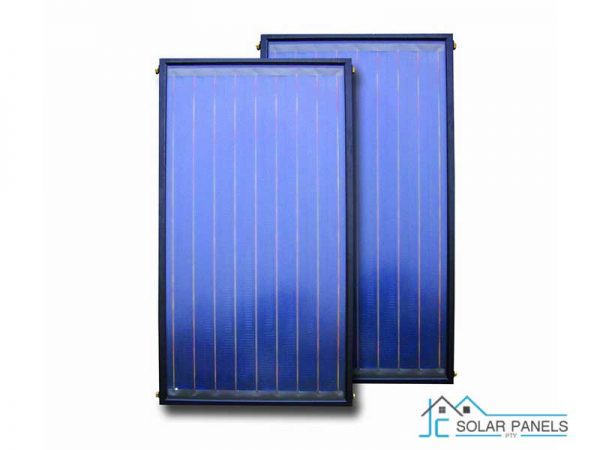 Two Solar Flat Panel Collectors