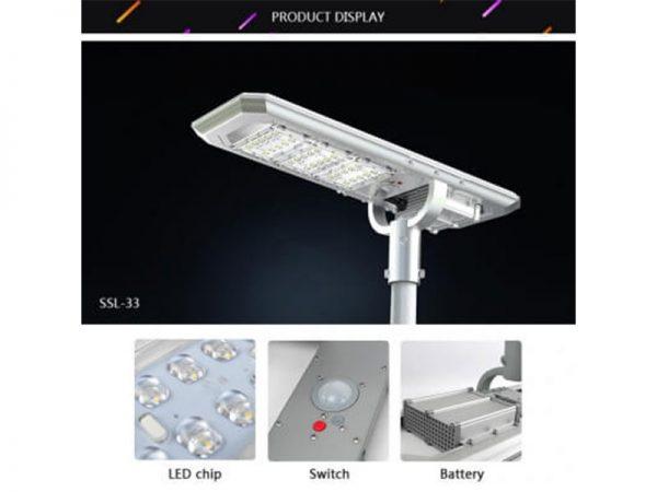 3000 Lumen Solar Street Light Product Display