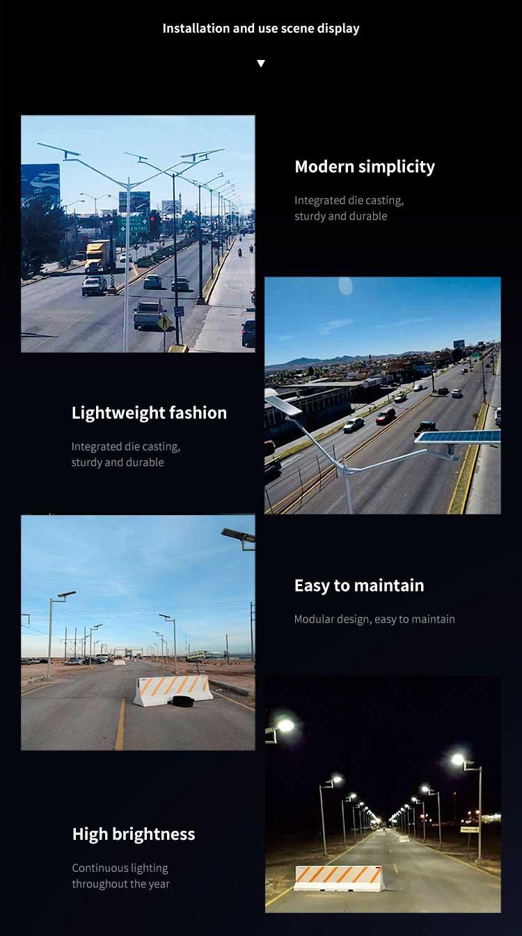 3000 lumen Solar Street Light Installation
