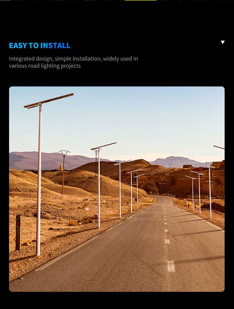3000 lumen solar street light Easy To Install
