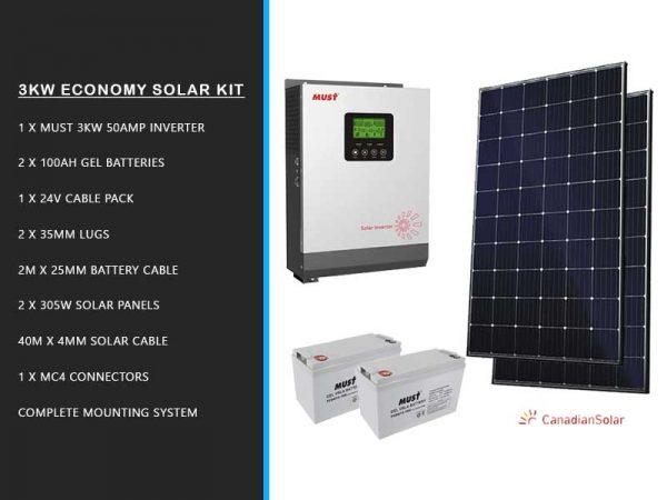 3kw Economy Solar Kit Bundle