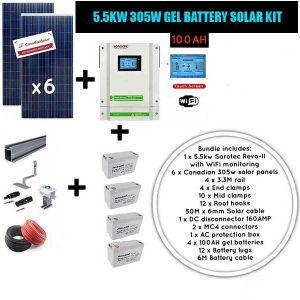 5.5kw 305W Gel battery Solar Kit