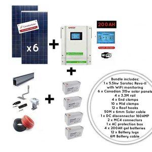 5.5kw Sorotec Canadian Solar Gel battery Kit