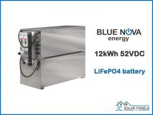 12kWh Blue Nova LiFePO4 battery 52VDC