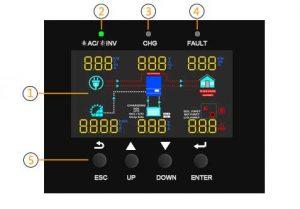 5kw Sunforce Solar Inverter LCD Display