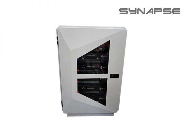 Synapse Rack 12U White Battery Box Side