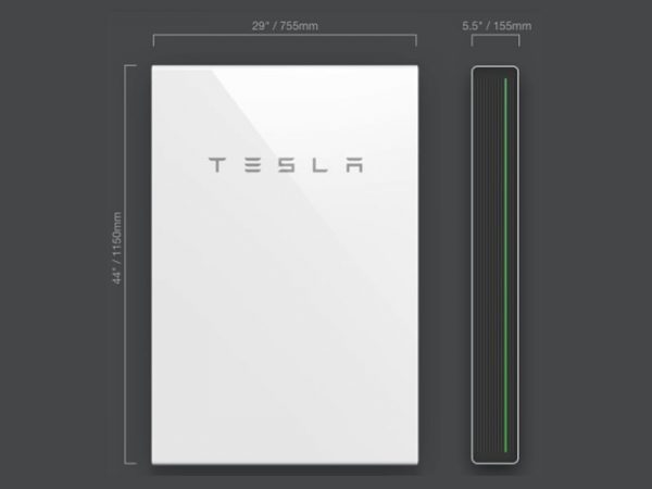 Tesla PowerWall 2 AC Dimensions
