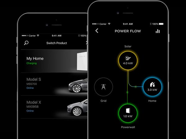 Tesla PowerWall 2 AC Mobile App Monitoring