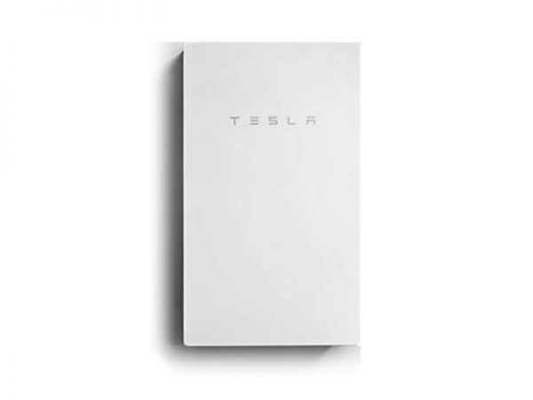 Tesla PowerWall 2 AC Mounted Against Wall