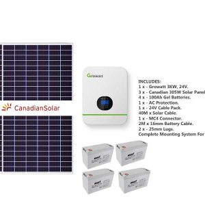 3kw Growatt load-shedding solar kit