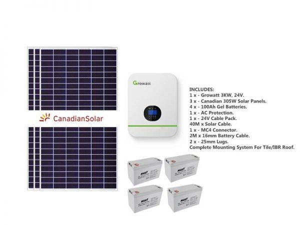 3kw Growatt load-shedding solar kit
