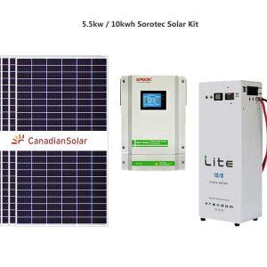 5.5kw Sorotec 10kwh Freedom Solar Kit