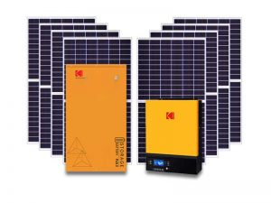 7.2kw Kodak 5.1kwh storage solar kit