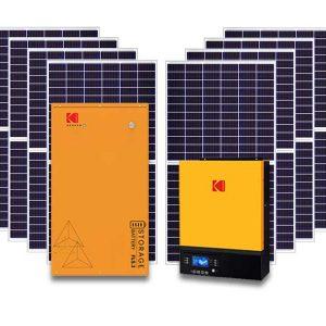 7.2kw Kodak 5.1kwh storage solar kit