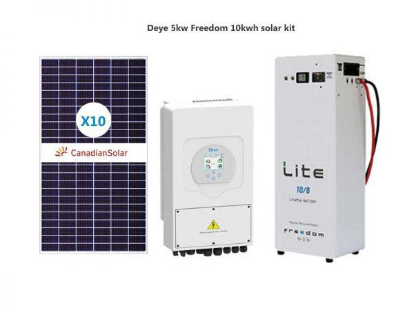 Deye 5kw Freedom 10kwh solar kit