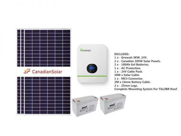 Growatt 3kw Starter Solar Bundle