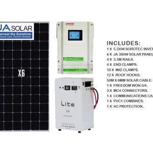 5.5kw solar kit with 5kwh storage