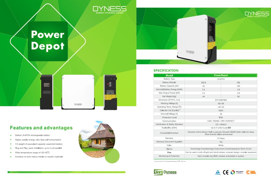 Dyness 4.8kwh Lithium-ion Powerbox Datasheet