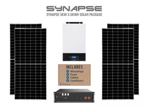 Synapse 5kw 3.5kwh solar package