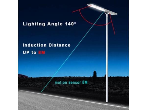 3000 Lumen Solar Street Light Angles