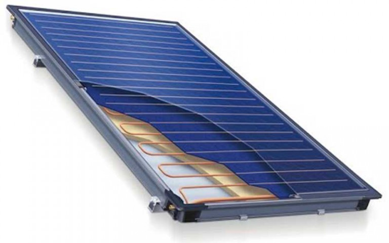 Flat Panel Solar Collector For Thermal Energy