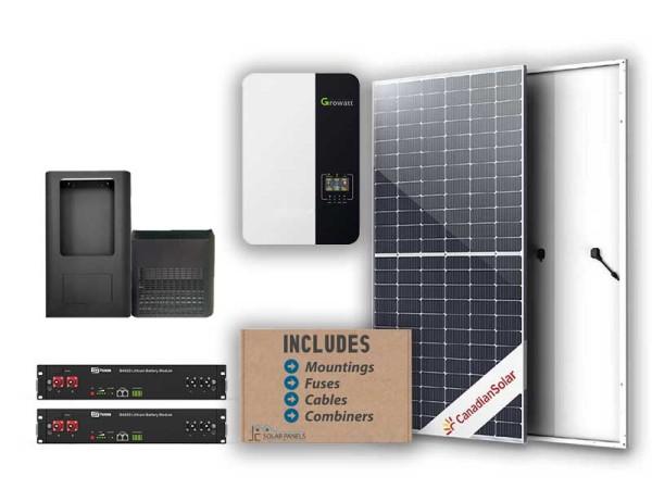 Growatt 5kw 4.8kwh solar kit