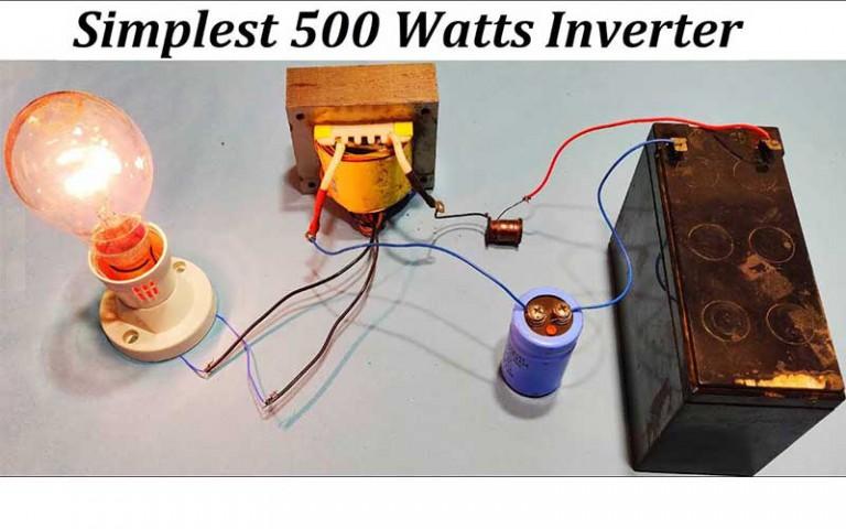 Inverter Converting DC To AC Light Shining
