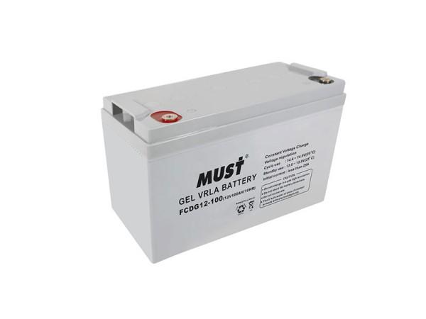 MUST 100AH gel batteries