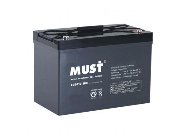 Must 100Ah Gel Battery