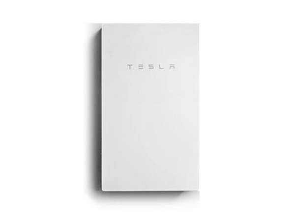 Tesla PowerWall 2 AC Mounted Against Wall