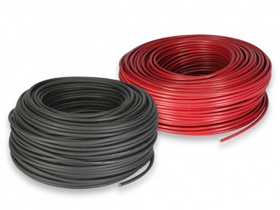 solar cable red black