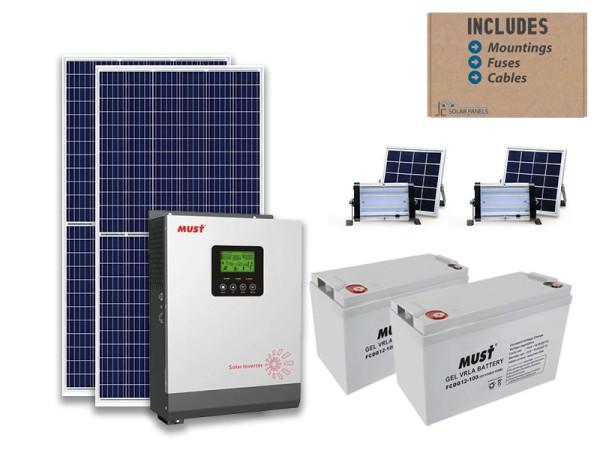 3kw MUST starter solar bundle