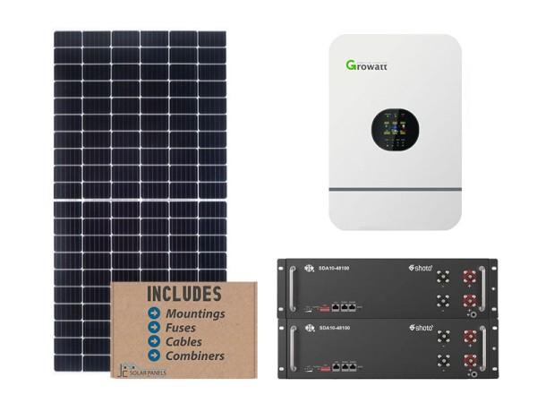Growatt 5kw 10.24 kwh solar bundle