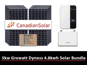 5kw Growatt Dyness 4.8kwh Solar Bundle