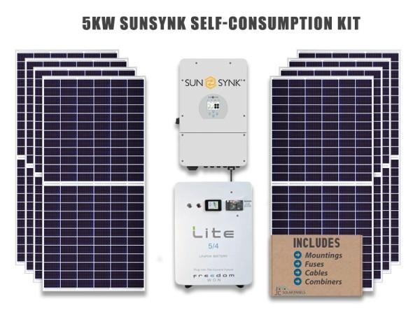 5kw SunSynk Hybrid Solar Kit
